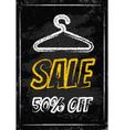 Sale clothes rack chalk vector image