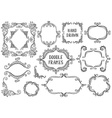 Set of hand drawn doodle frames on white vector image