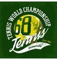 Tennis ball sportswear design or tournament logo vector image