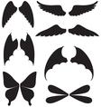 wings set vector image