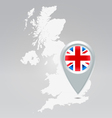 Uk point map vector
