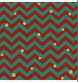 Christmas Seamless pattern Red Gold and Green vector image vector image