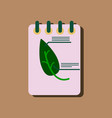 flat icon design collection notebook and leaf in vector image vector image