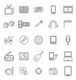 Entertainment line icons on white background vector image vector image