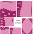 card cutout pink vector image vector image