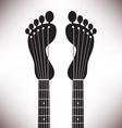 Footprint Headstocks vector image