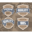 Premium label vector image
