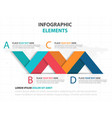 abstract colorful label business infographics vector image