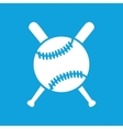 Baseball icon 2 simple vector image