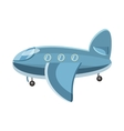 Blue airplane icon cartoon style vector image