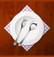 Cutlery on a table vector image
