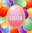 Easter eggs card template vector image