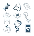Medical staff icons collection vector image