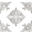 Vintage Baroque ornament floral pattern vector image