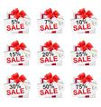 white sale present2 vector image