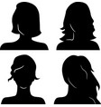 Women heads silhouettes vector image