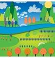 01 sunny landscape river vector image