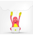 Funny Monster Coder vector image vector image