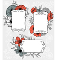 flowers labels vector image vector image