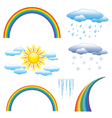 Set of nature objects icon vector image