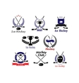 Ice hockey emblems and logo vector image