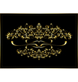 Gold luxury frame with a calligraphic ornament vector image vector image