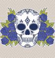 Floral skull design element vector image