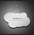 Empty cloud shape stainless steel with chain vector image vector image