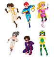 A male and female superheroes vector image