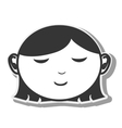 face woman closed eyes design vector image