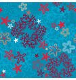 Seamless background with Coral Reef and Sea stars vector image
