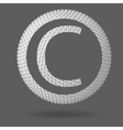 The letter C Polygonal letter Abstract Creative vector image