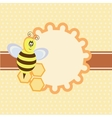 background with funny bee vector image