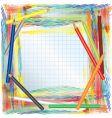 color pencils background vector image vector image