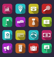 collection simple flat icons of business and vector image