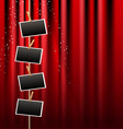 photo frame and red curtain vector image