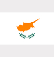 Cypriot flag vector image vector image