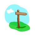 arrow shape cartoon wooden sign vector image