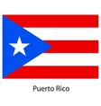Flag of the country puerto rico vector image