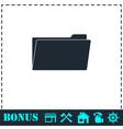 Folder icon flat vector image