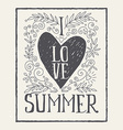 I love summer print T-shirt Ink vector image
