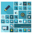 Icons with long shadow vector image