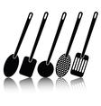 kitchen utensil silhouettes vector image