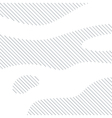 Linear background with black lines on white vector image