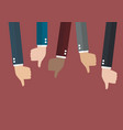 Many thumbs down vector image