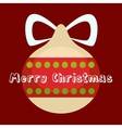 Merry Christmas greeting card Holiday decorations vector image