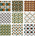 Set of colored grate seamless patterns with vector image