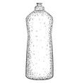 Hand drawn bottle vector image