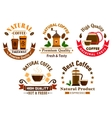 Coffee icons for cafe signboards vector image