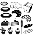 Set of baking and bread vector image vector image